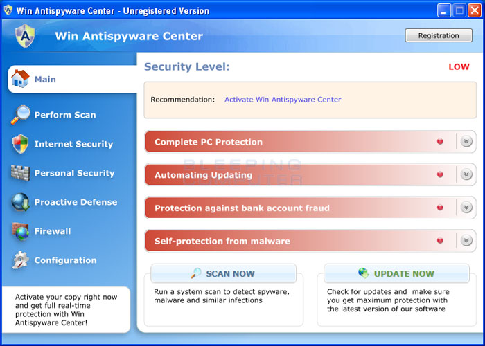 Win Antispyware Center screenshot