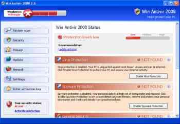 Win Antivir 2008 and Win Antivirus 2008 Image