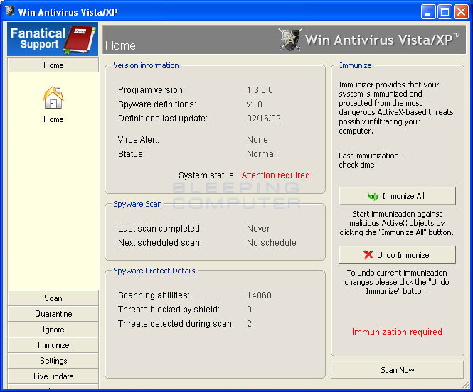 How to remove Win Antivirus Vista/XP or ASC-AntiSpyware