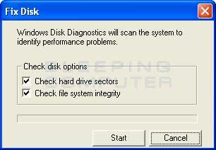 Fix Disk alert