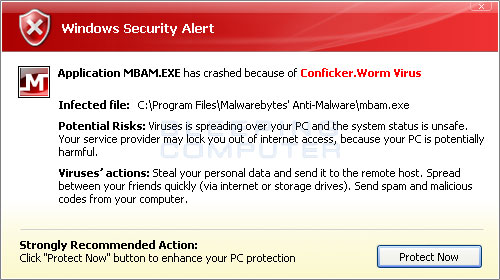 Win Security 360 terminating Malwarebytes while stating it is infected