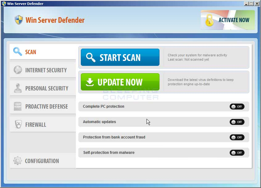 Win Server Defender screen shot