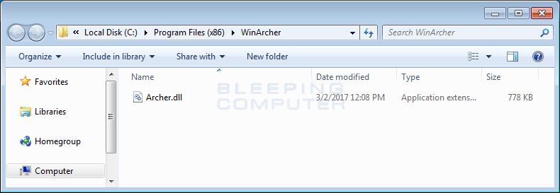 WinArcher Folder