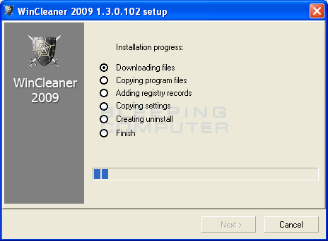 Installation of Wincleaner 2009