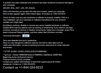 WinCpu.exe Tech Support Scam Image