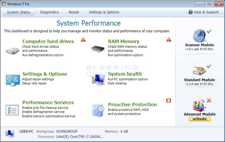 Windows 7 Fix screenshot
