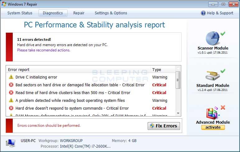 Remove Windows 7 Repair (Uninstall Guide)