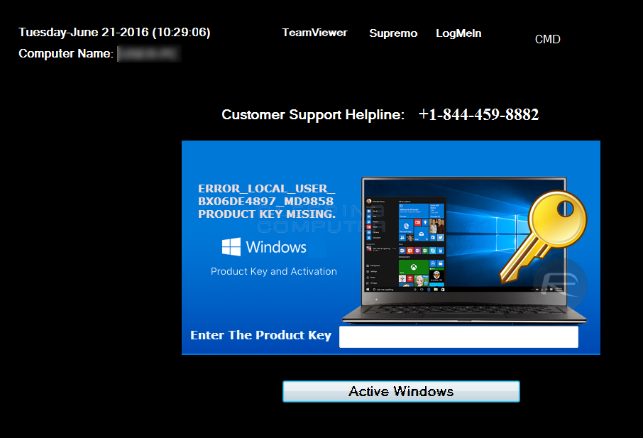 Fake Windows Activation Screen