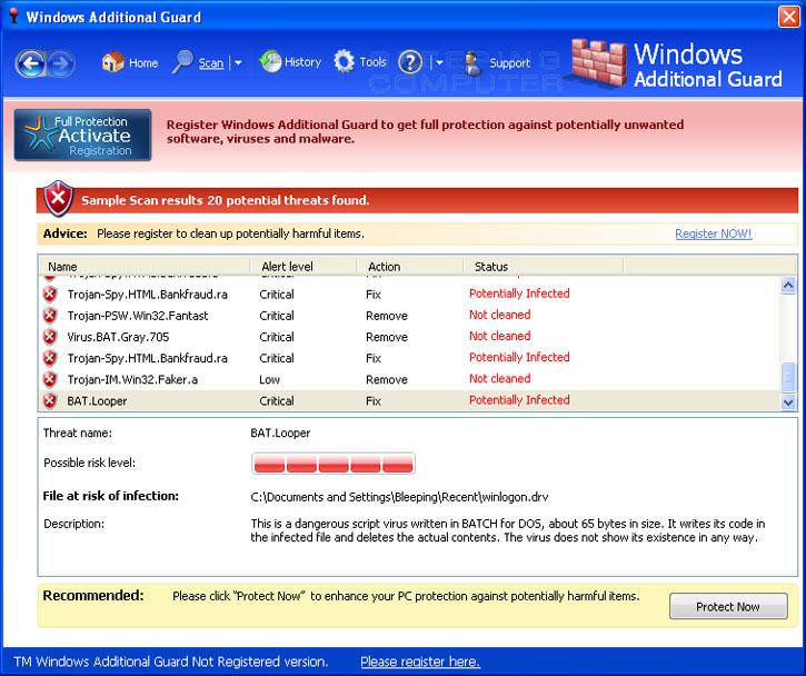 Windows Additional Guard screen shot