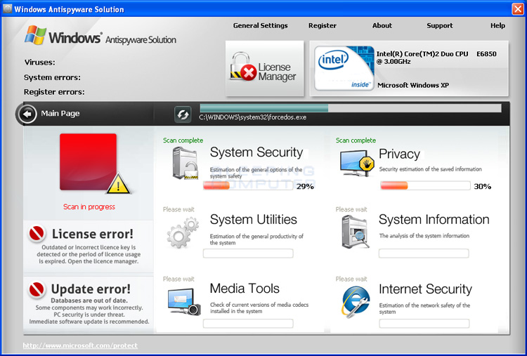 Windows Antispyware Solution screen shot