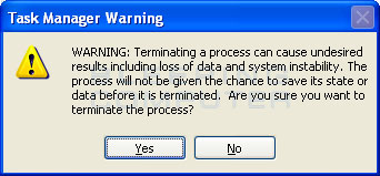End Process in Task Manager