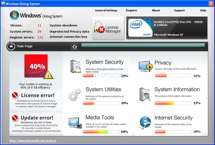 Windows Debug System screen shot