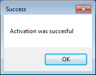 Activation Successful