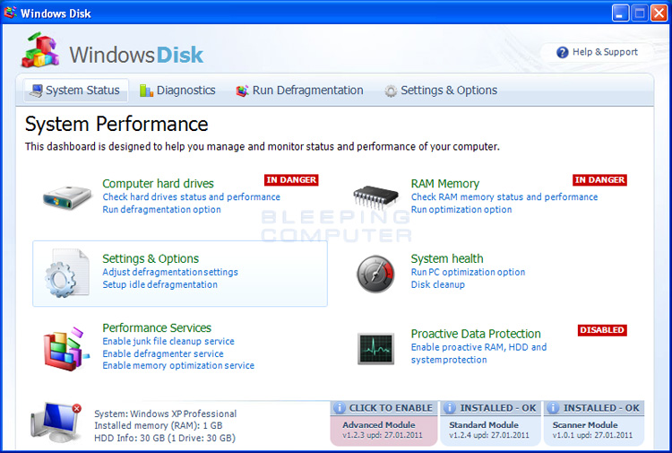 Windows Disk screen shot
