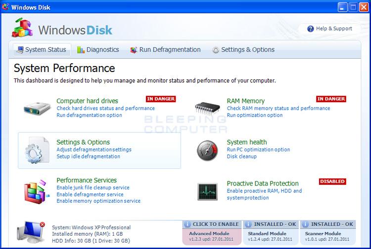 Windows Disk screen shot