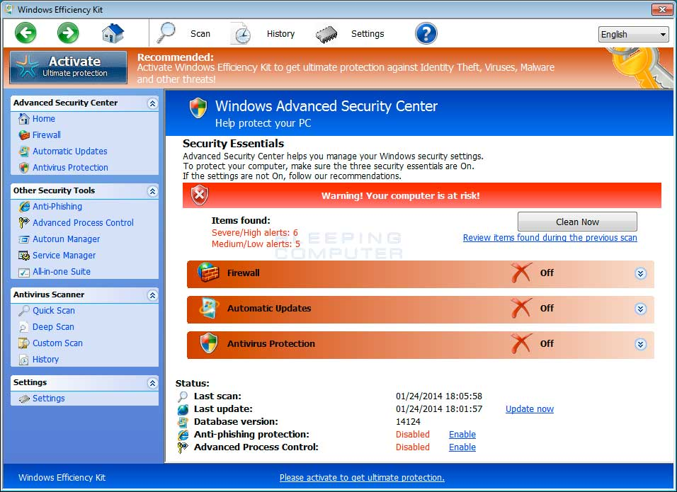 Windows Efficiency Kit screen shot