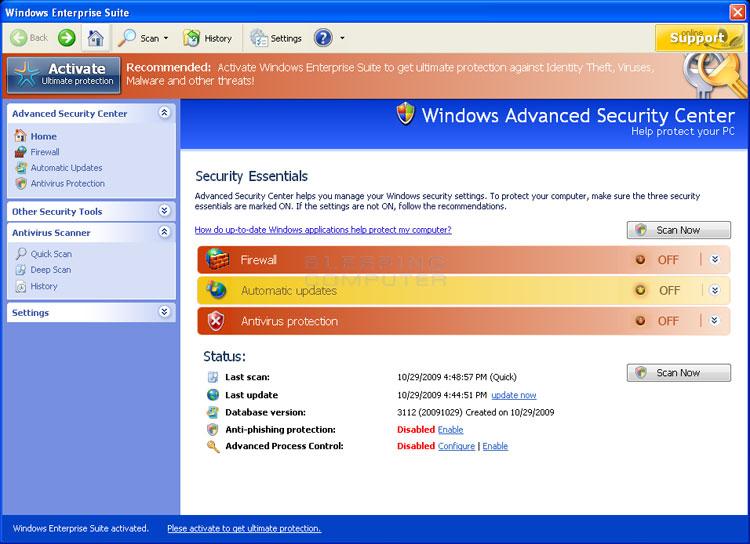 Windows Enterprise Suite screen shot