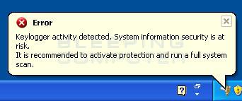 Fake Keylogger Alert