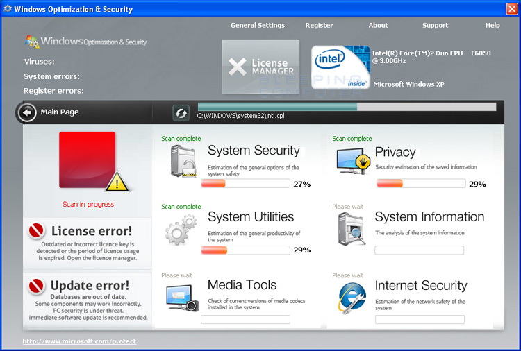 Windows Optimization & Security screen shot