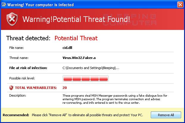 Windows Defender Warnung