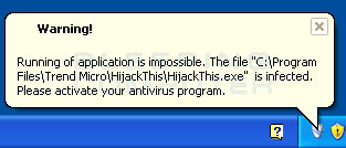 Blocked security program