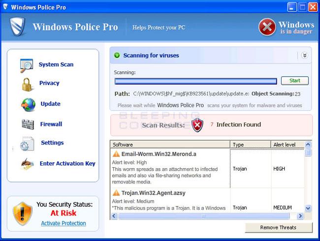 Windows Police Pro screen shot