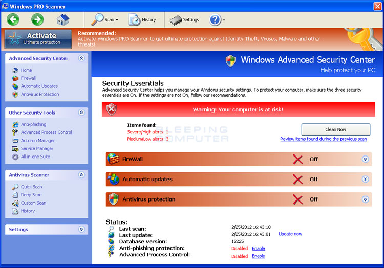 Windows PRO Scanner screen shot