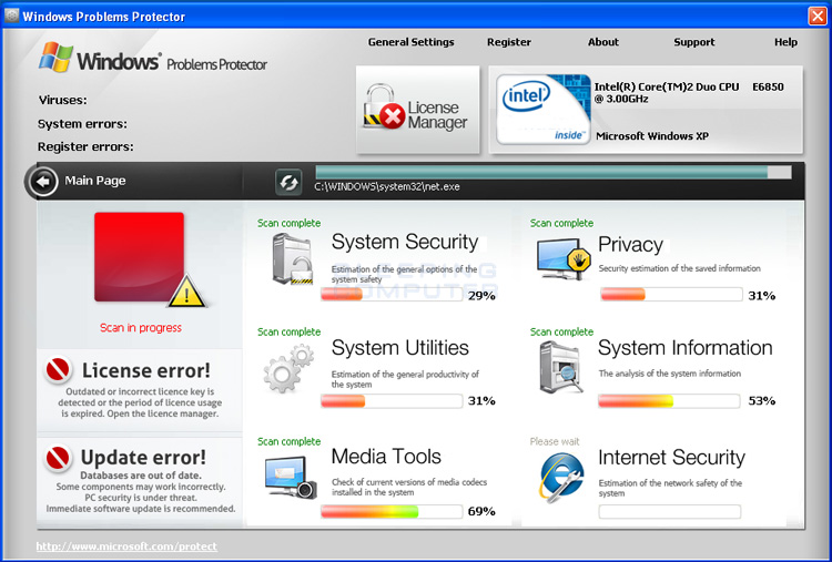 Windows Problems Protector screen shot