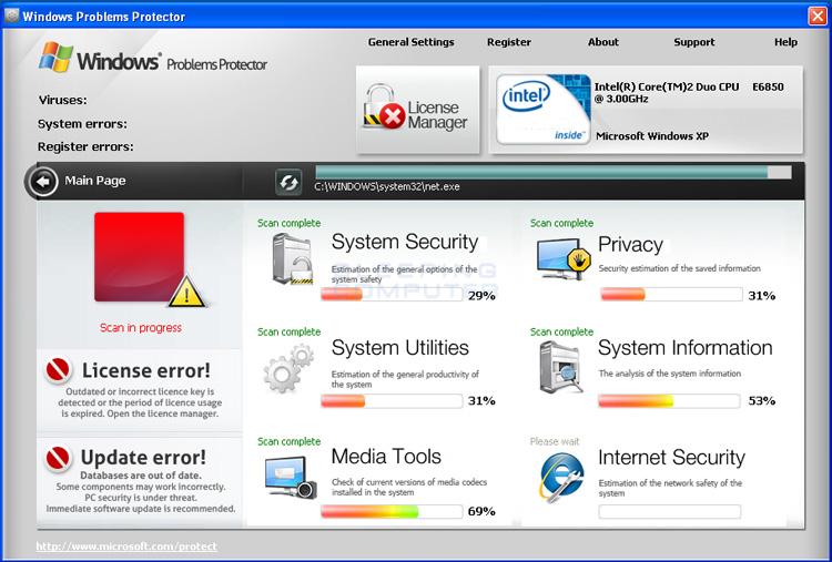 Windows Problems Protector screen shot