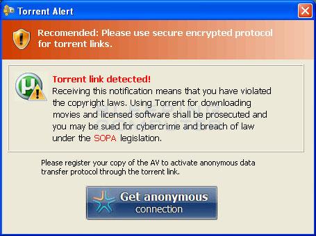 Torrent alert