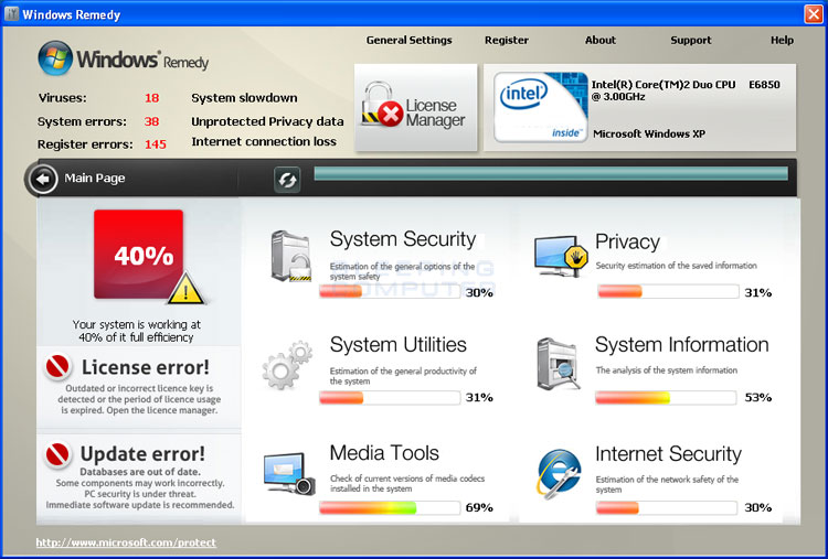 Windows Remedy screen shot