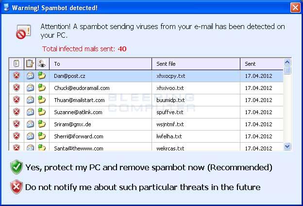 Fake Spambot alert