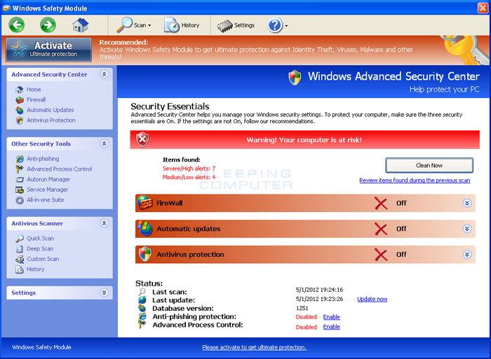Windows Safety Module screen shot