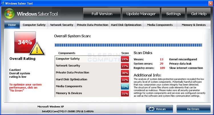 Windows Salvor Tool screen shot