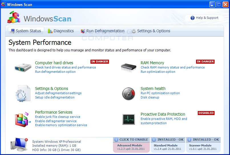 Windows Scan screen shot