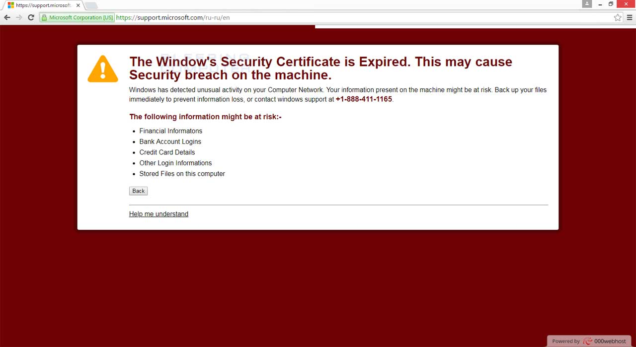 Remove The The Windows Security Certificate Is Expired Tech Support