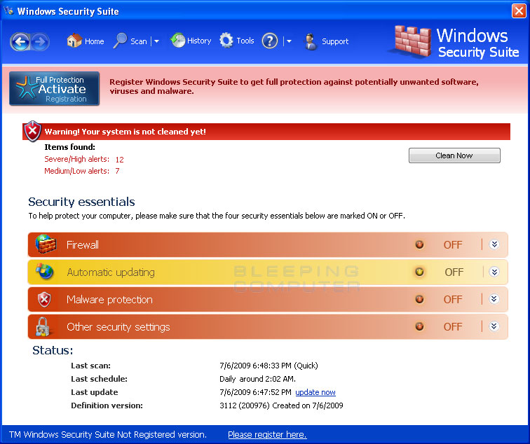 Windows Security Suite screen shot