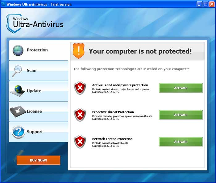 Windows Ultra-Antivirus screen shot