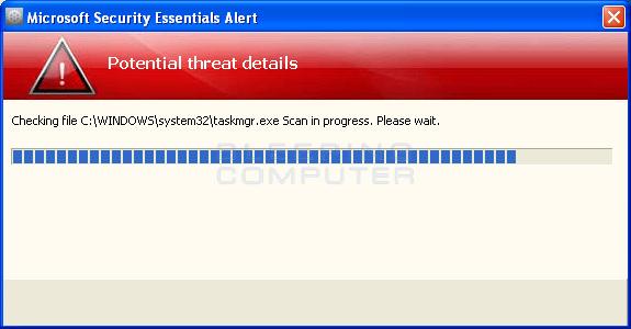 Fake Microsoft Security Essential alert