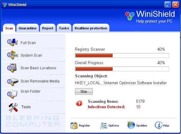 Scanning Screen