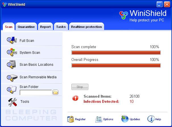 WiniShield screen shot