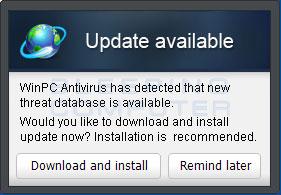 WinPC Antivirus Update Alert