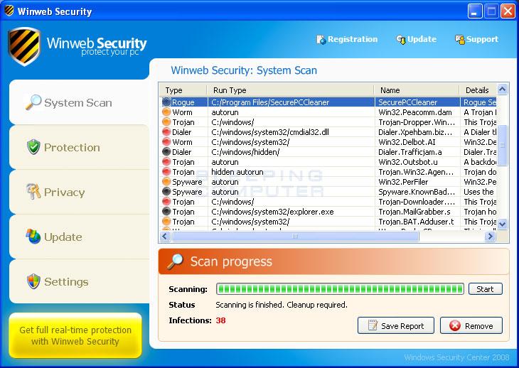 Winweb Security screen shot