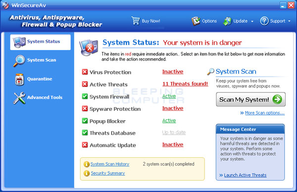 WinSecureAv Screenshot