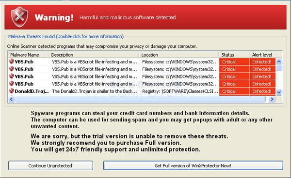 WinXProtector Screenshot