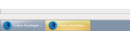 Firefox Developer Edition windows on the Task Bar