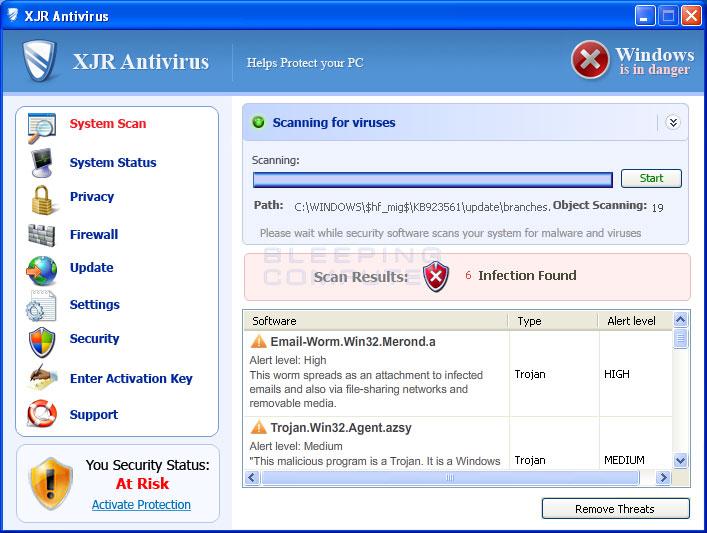 XJR Antivirus screen shot