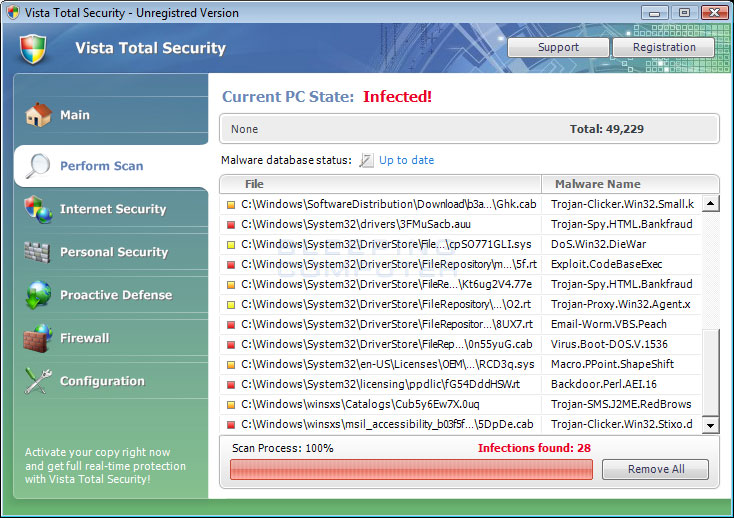 Vista Total Security screen shot