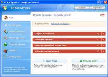XP Anti-Virus 2011 & Win 7 Home Security Image