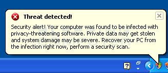 Fake security alert